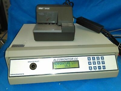 INTOXIMETERS ALCOMONITOR CC EBT EVIDENTIAL BREATH TEST INSTRUMENT with printer