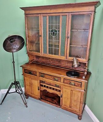 An Antique Late Victorian Solid Pine Welsh Dresser ~Delivery Available~