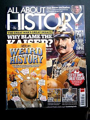 All About History Magazine Issue 54 With Free Weird History Book  (new) 2017