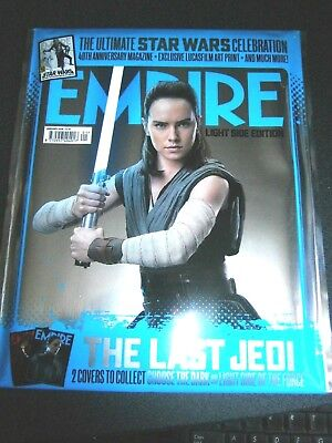 Empire Magazine January 2018 The Light Side Edition Blue Pack With Gifts (new)