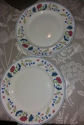 Bhs priory tableware 2 x dinner plates in good condition