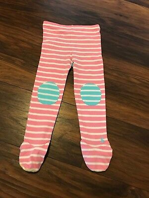 Baby Girl's Joules Pink & White Stripped Lounge Pants Leggings Age 18-24 m BNWOT