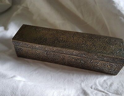 Museum Quality Inlaid Indo Persian Box Dated 1893