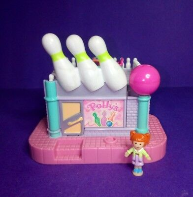 Rare Vintage Polly Pocket 1996 Bowling Alley Compact - with Jenny