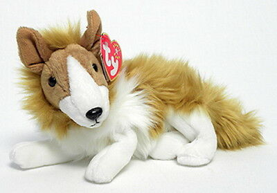 TY Beanie Baby CASSIE the Collie (7 inch) Stuffed Animal Toy