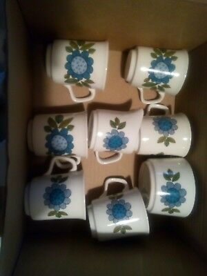 Topic by J & G Meakin set of 6 Coffee Cups, Jug and Sugar Bowl 60s