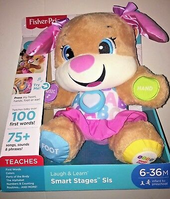 Fisher-Price Laugh & Learn Smart Stages Sis Toy Pink Puppy NEW FREE SHIPPING