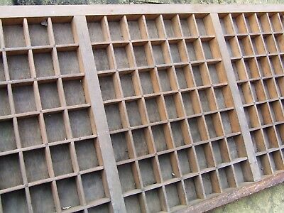 Letterpress Printing NICE OLD WOODEN TYPECASE Compositor's Case TREBLE CAPITALS