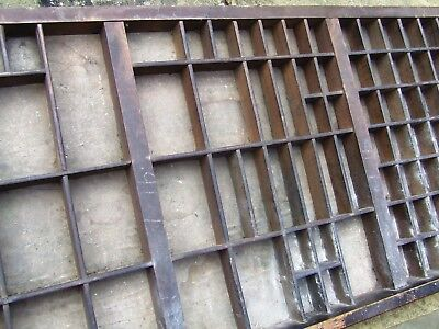 Letterpress Printing VERY OLD WOODEN TYPECASE Compositor's Case of Unknown Make