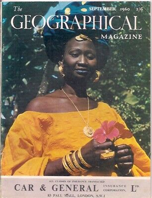 the geographical magazine-SEPT 1960-A WOLLOF BELLE FROM THE GAMBIA BASIN.