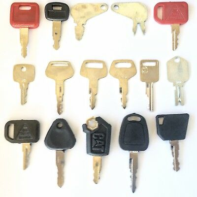 16 Key Heavy Equipment - Construction Equipment Ignition Key Set - Ships Free!