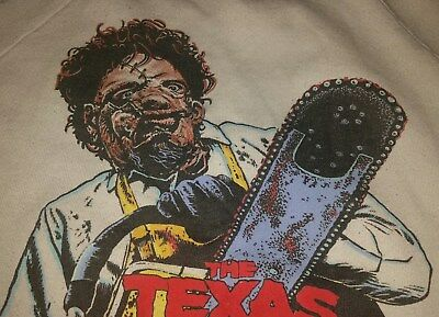 "1986 ""TEXAS CHAINSAW MASSACRE 2"" Vintage Long Sleeve LEATHERFACE Sweatshirt-RARE"