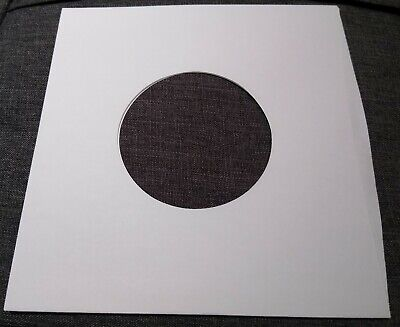 "Package of 75, 45 rpm 7"" Record Sleeves 20# White Paper.  100% acid-free."