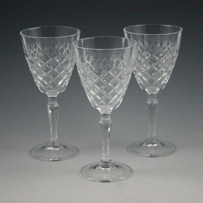3 Crystal J.g. Durand Cristal D'arques Dauphine  Wine Glass Goblets