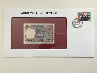 Banknotes of All Nations – India 1 rupee UNC