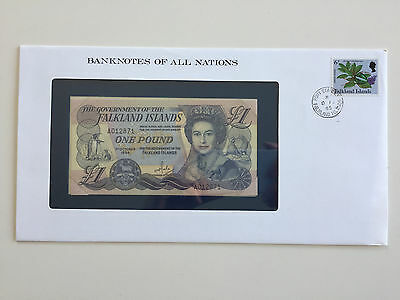 Banknotes of All Nations – Falkland Islands £1 One Pound 1984 UNC