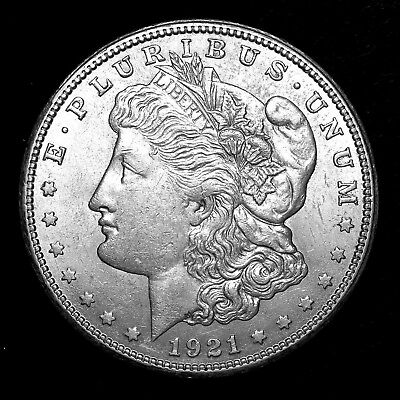 1921 S ~**ABOUT UNCIRCULATED AU+**~ Silver Morgan Dollar Rare US Old Coin! #923