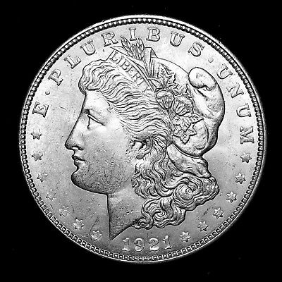 1921 D ~**ABOUT UNCIRCULATED AU+**~ Silver Morgan Dollar Rare US Old Coin! #816