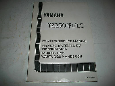 Official 1994 Yamaha Yz250(F)  Motorcycle Shop Service Manual Clean More Listed