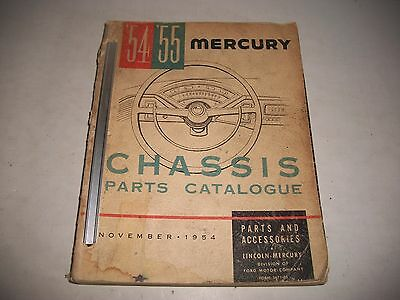 1954 1955 Mercury Original  Chassis Parts Catalog Monterey Montclair