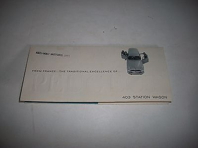 1960 Peugeot  403 Station Wagon Sales Brochure Usa Issue Cmystore4More