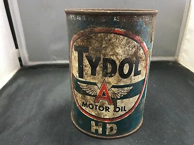 Tydol Oil Can Vintage Motor Oil Can Tydol Flying A Oil Can