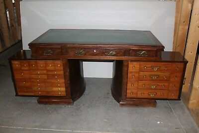 Antique Desk made by Office Specialty Mfg Co for The Shannon Company (London)