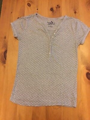 Gap Kids Girls Grey Star Print T-Shirt 13yrs