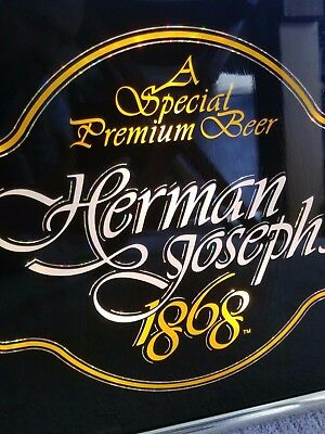 Vintage Herman Joseph 1868 Lighted Beer Sign Good/Great Condition