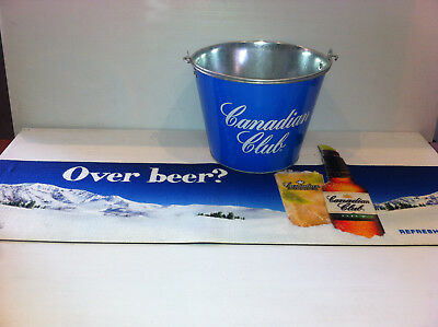 Canadian Club Ice Bucket with Bar Runner