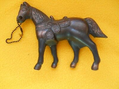 Vintage Pot Metal Carnival Prize Give Away Horse Copper Bronze Finish 1950's