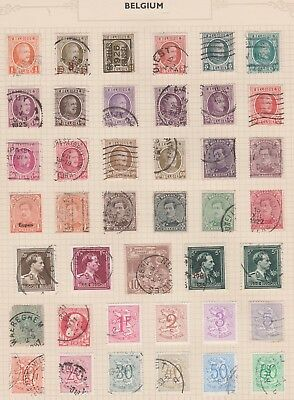 BELGIUM Assorted Stamps on Old Book Pages to 80c, etc USED & MINT as per scan #