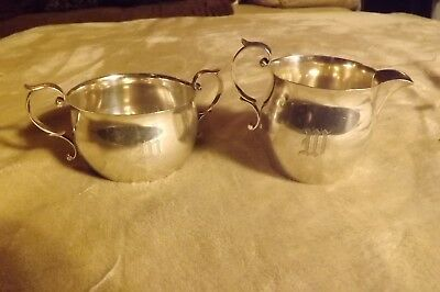 Antique Alvin Sterling Silver Sugar and Creamer 1/2 Pint 201 Grams
