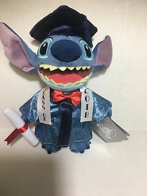 Disney Class of 2018 Graduation Plush Stitch Robe Diploma Limited Time Exclusive