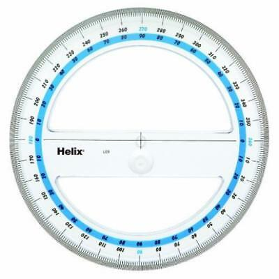 """❤ Helix 6"""" 360 Degree Professional Protractor (12091) Easy To Read New ❤"""
