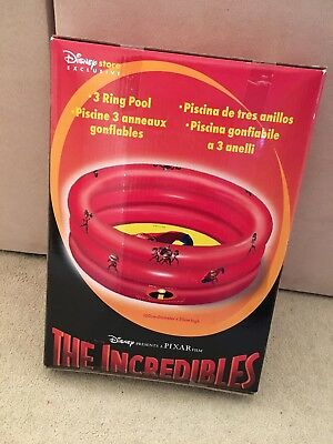 RARE The Incredibles Paddling Pool - Disney Store Exclusive - NEW