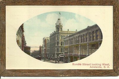 Postcard - Rundle Street Looking West, Adelaide, South Australia - 1910
