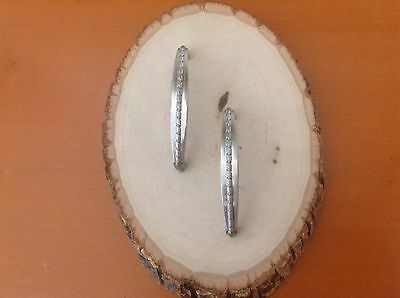 629 VTG MidCentury Handles In A Stainless Steel Tone. Set Of 2