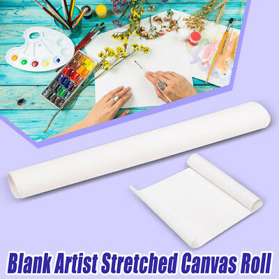 Blank Stretched Artist Canvas Roll 200x40cm Paint Cotton Art Oil Drawing Crafts