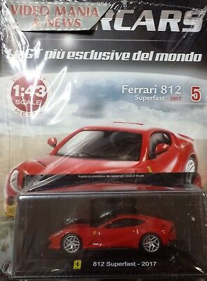 Ferrari 812 Superfast 2017 Supercars Die Cast V 5 1/43+Booklet Centauria