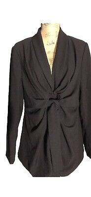 Jessica Simpson Maternity Black Blazer Career Style Jacket Size XL Tied Waist