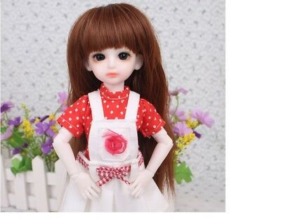 E08 1/6 Girl Super Dollfie Normal Skin Coordinate Model Fullset BJD Doll O