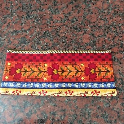 Handmade Floral Abstract Print Fabric Lavender Filled Yoga Relaxation Eye Pillow