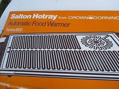 Food Warmer Hot Plate Style - Crown Corning Series 800 Salton Hotray