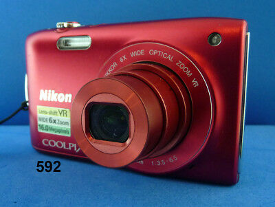 NIKON S.3300 Compact Digital Camera, Battery + USB Charger, Exc For Travel