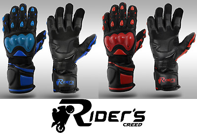 Leather Motorbike Gloves, Motorcycle Gloves, Knuckle shell protection RC Veleno