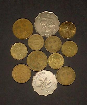 Small selection of coins from Hong Kong (50g)