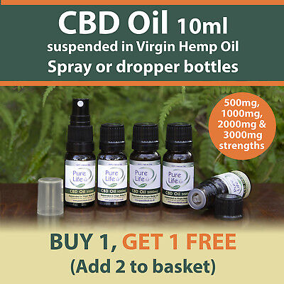 10ML CBD OIL 500mg to 3000mg CO2 Extracted Full Plant extract BUY 1 GET 1 FREE