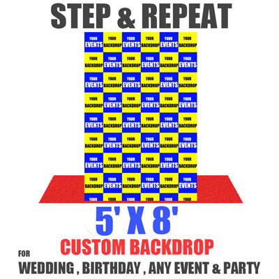 Step and Repeat EVENT Banner 5' x 8' Feet Telescopic photography backdrop kit