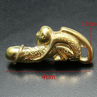 Thai Amulet Paladkik Monkey Miniature Brass Magic Holy Wealth LOVE Charm Luck